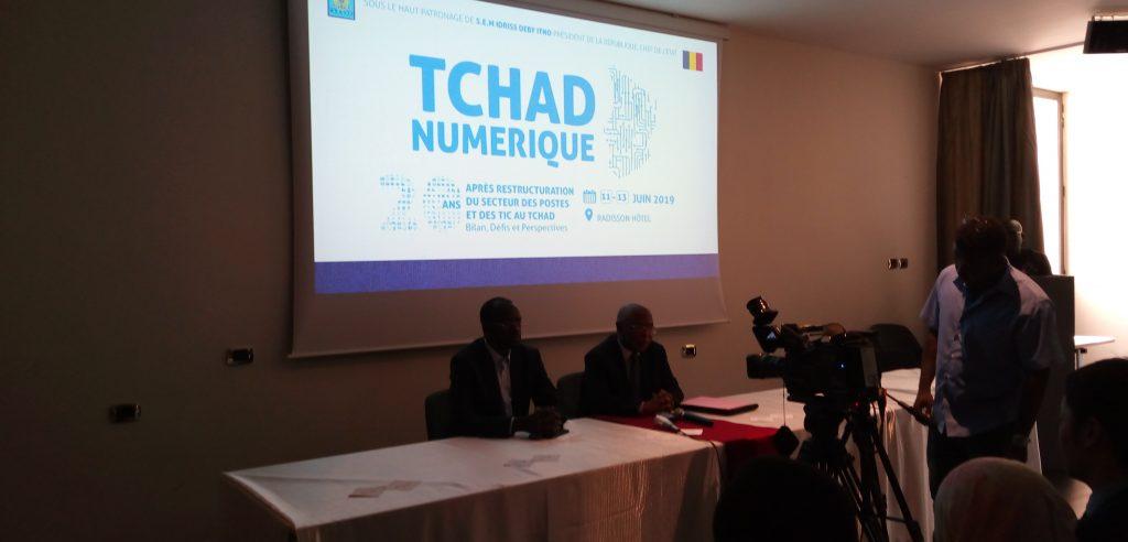 Dans un point de presse animé cet après midi au Radisson Blu Hôtel, le Ministre des Postes des Nouvelles Technologies  de l'Information et de la Communication Idriss Saleh Bachar et Le Ministre Secrétaire Général à la Présidence de la République Hissein Ibrahim Taha ont annoncé l'organisation prochaine d'un Forum TCHAD NUMERIQUE qui se tiendra du  au 13 Juin 2019 à N'Djamena.