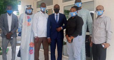 Une délégation de l'ASENT reçu par le ministre en charge des sports